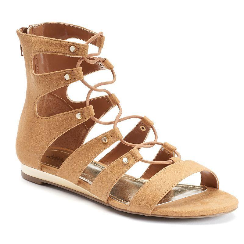 Jennifer Lopez Women's Ghillie Wedge Heels, Size: 5.5, Brown