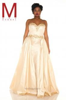 0d289040cd07 Ivory, strapless, belted, full length gown. Fabulouss Collection | Mac  Duggal.