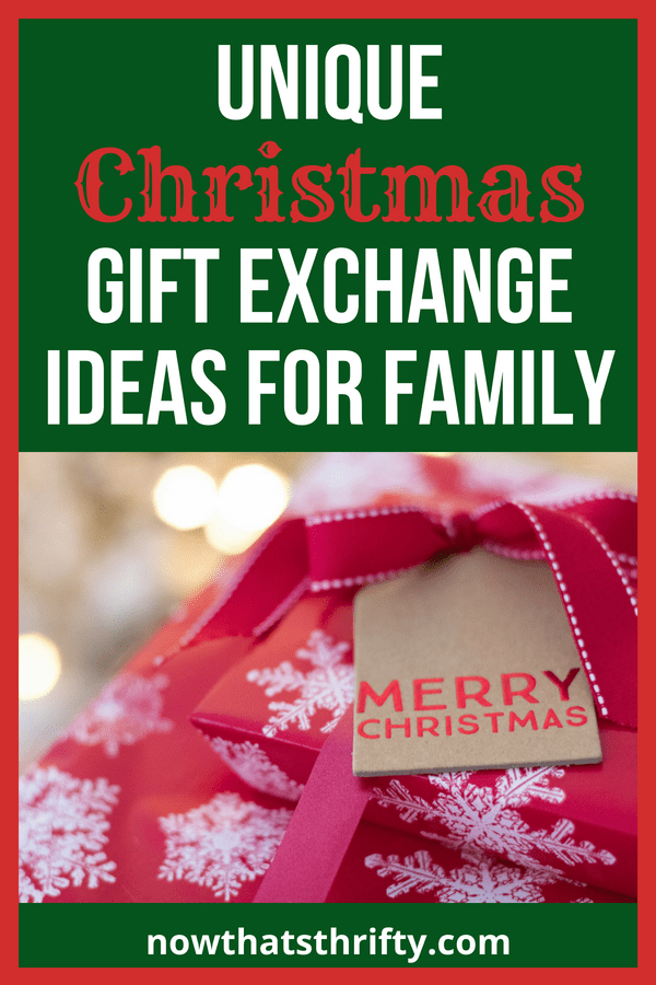 Unique Christmas Gift Exchange Ideas for Family