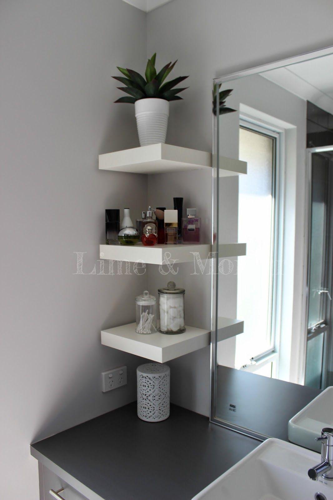 Ensuite Powder Room Ikea Lack Shelves Small Bathroom Storage Diy Bathroom Storage