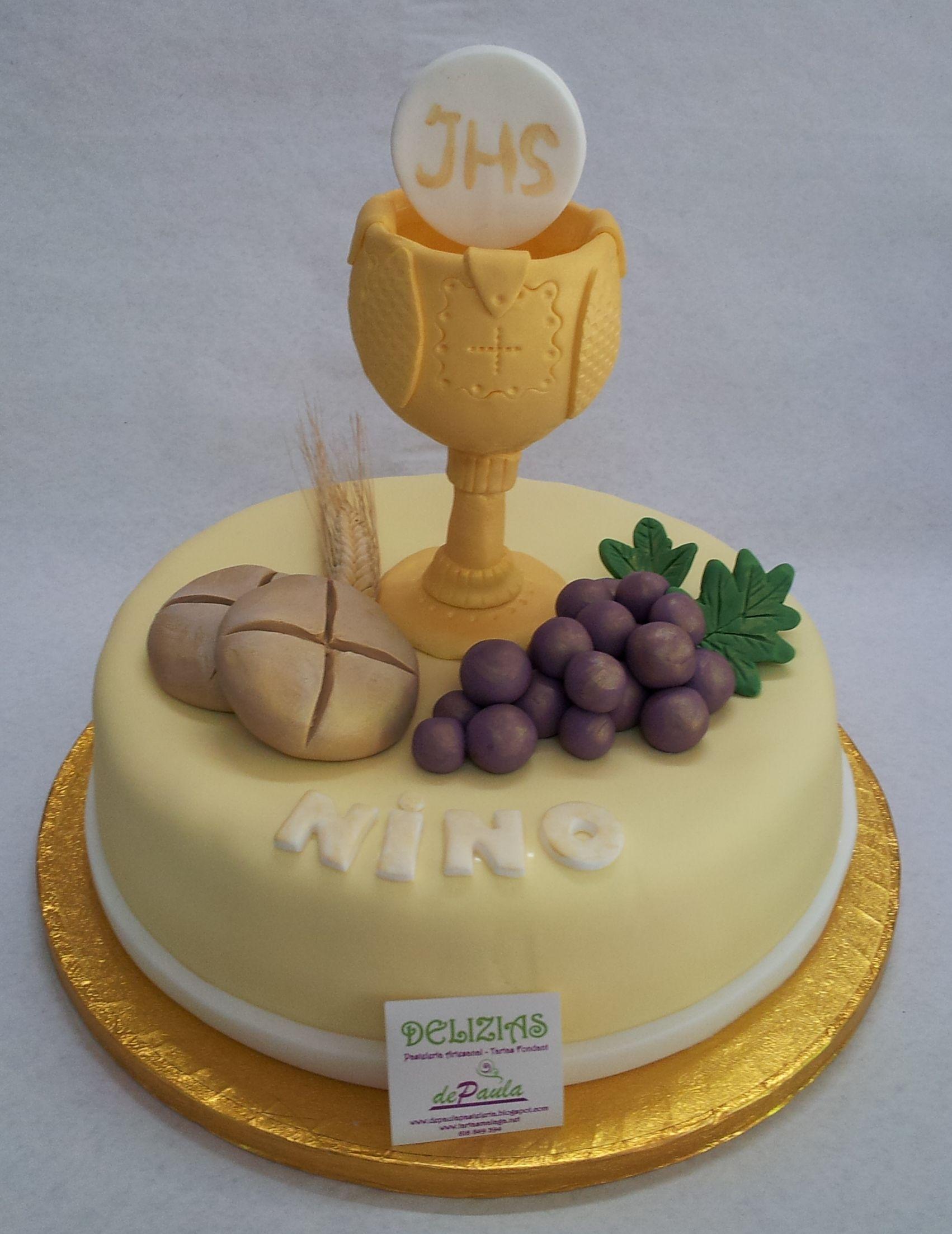 tortas de comunion con caliz