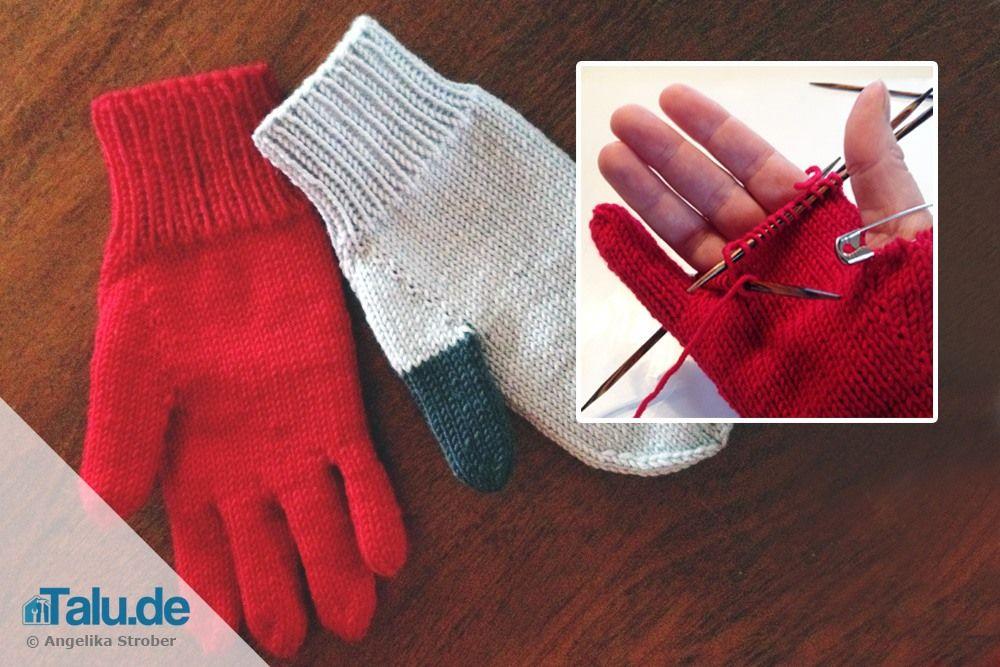 handschuhe stricken diy anleitung f r f ustlinge fingerhandschuhe handarbeit diy. Black Bedroom Furniture Sets. Home Design Ideas