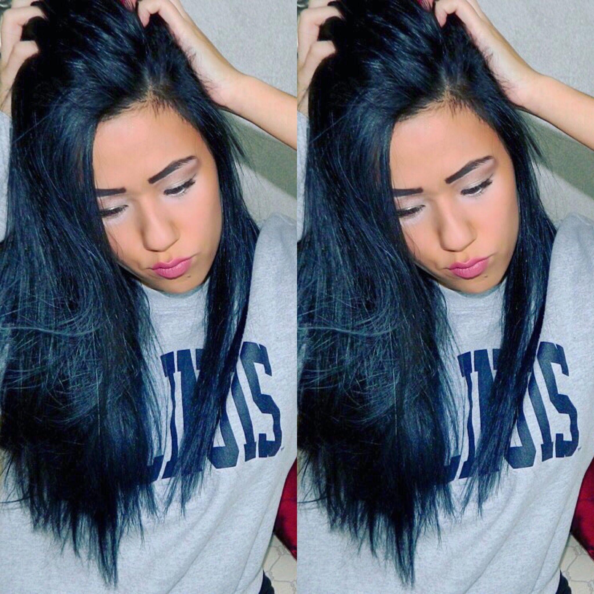 Midnight blue back Ion Demi hair dye hair blue black dye