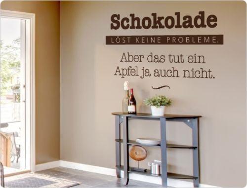 Wandtattoo-Kueche-Schokolade-loest-keine-Probleme-Wohnzimmer-Spruch