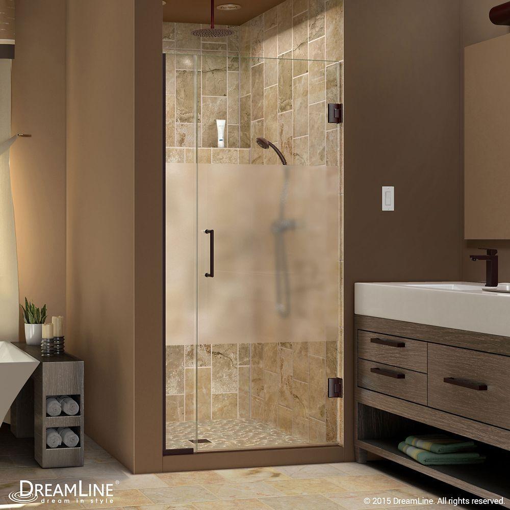 Unidoor Plus 36-1/2-inch to 37-inch x 72-inch Hinge Shower Door with ...