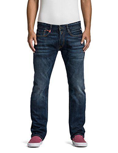 b02b0d3c552f Replay Herren Straight Leg Jeanshose Newbill. Replay Herren Straight Leg  Jeanshose Newbill Herren Jeans, Blau ...