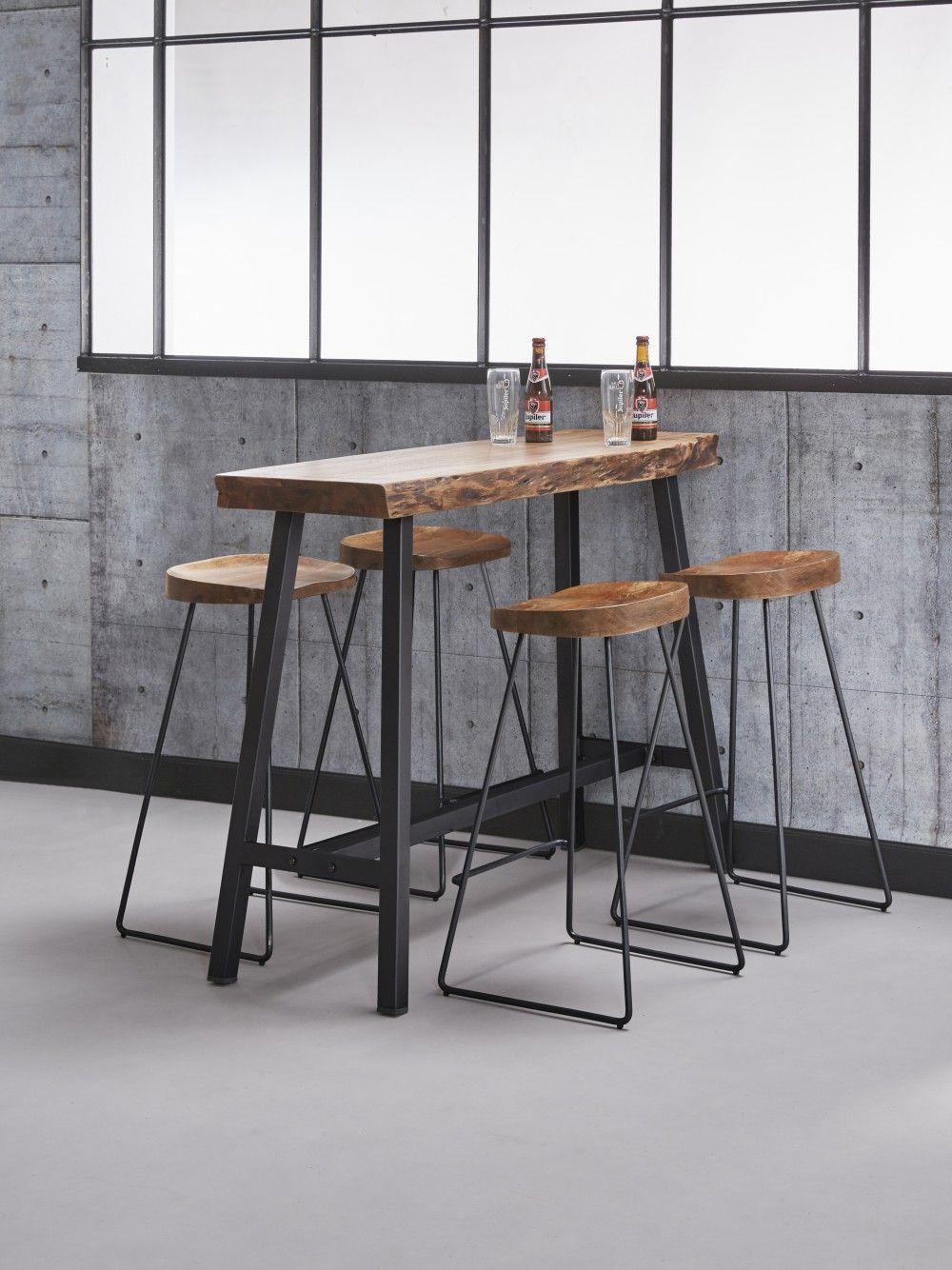 Barhocker Industrie Holz Schale Hocker Metall Industriedesign