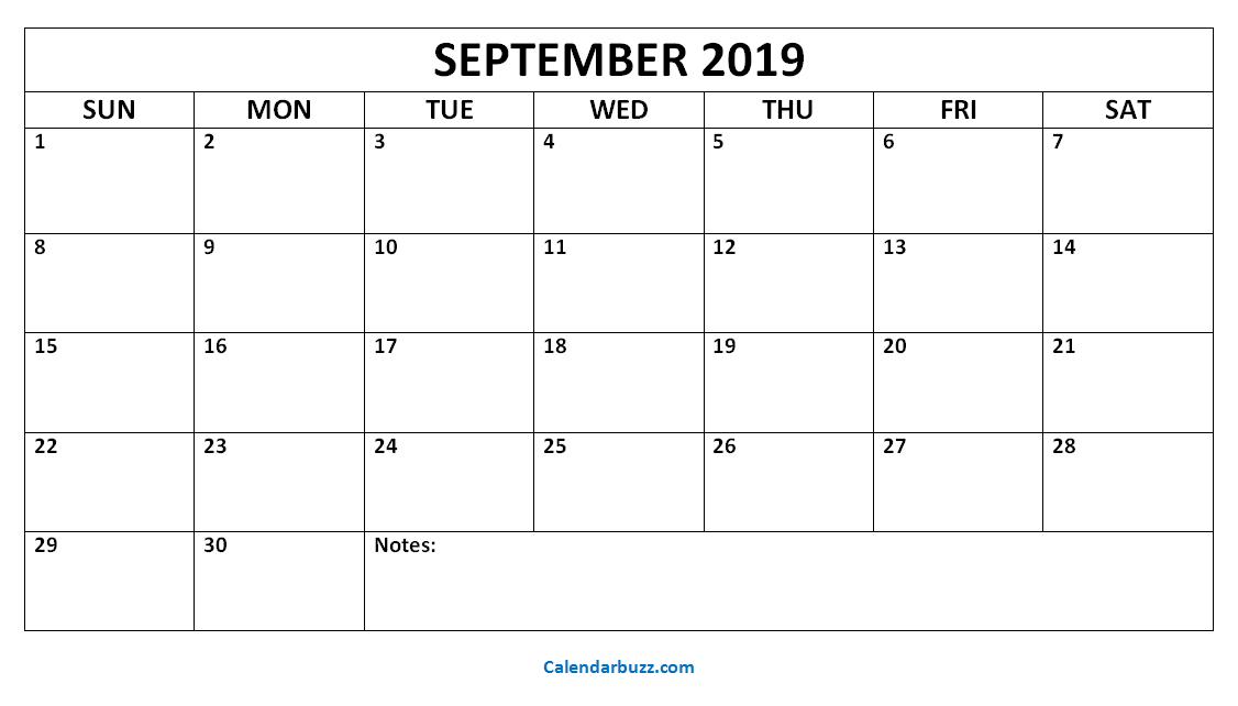 September 2019 Printable Calendar Templates Download Calendarbuzz Printable Calendar Template Calendar Printables Calendar Template