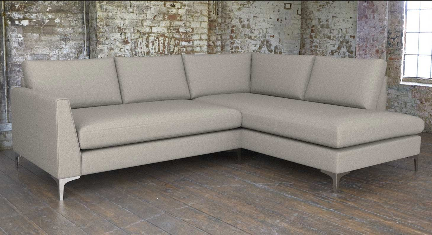 Whitechapel Grey Corner Sofa In Latitude Pebble Sofasandstuff Interiordesign Cornersofa Bespoke Sofas Modern Sofa Designs Modern Sofa