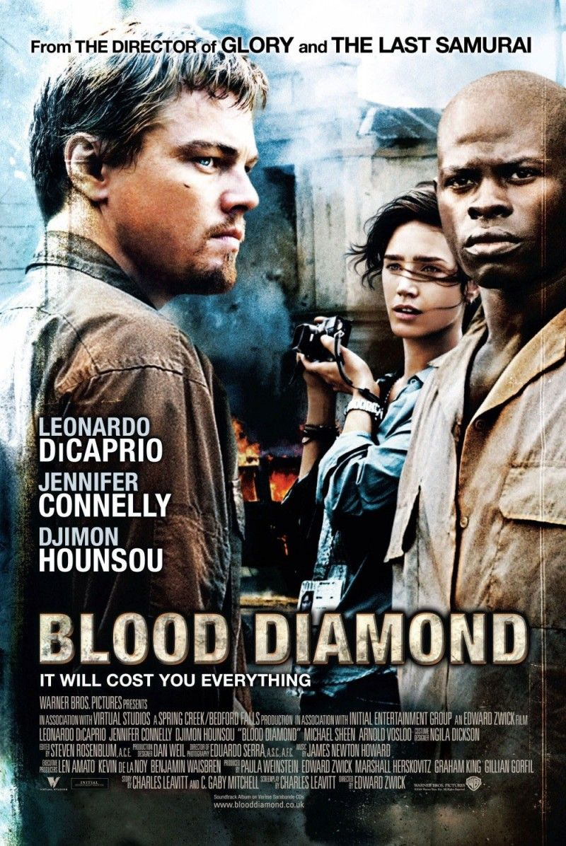 A flood of blood movie with well-executed action scenes, heart-wrenching drama and thought-provoking tale.   Drawing in the country which was used to be the safest in the world Sierra Leone, it told us how diamonds harvested, smuggled and traded for weapons leveraged in Civil War. Adventure piece of film that brutal at times but never bored me.  Well play by DiCaprio and big credit for Djimon Hounsou.
