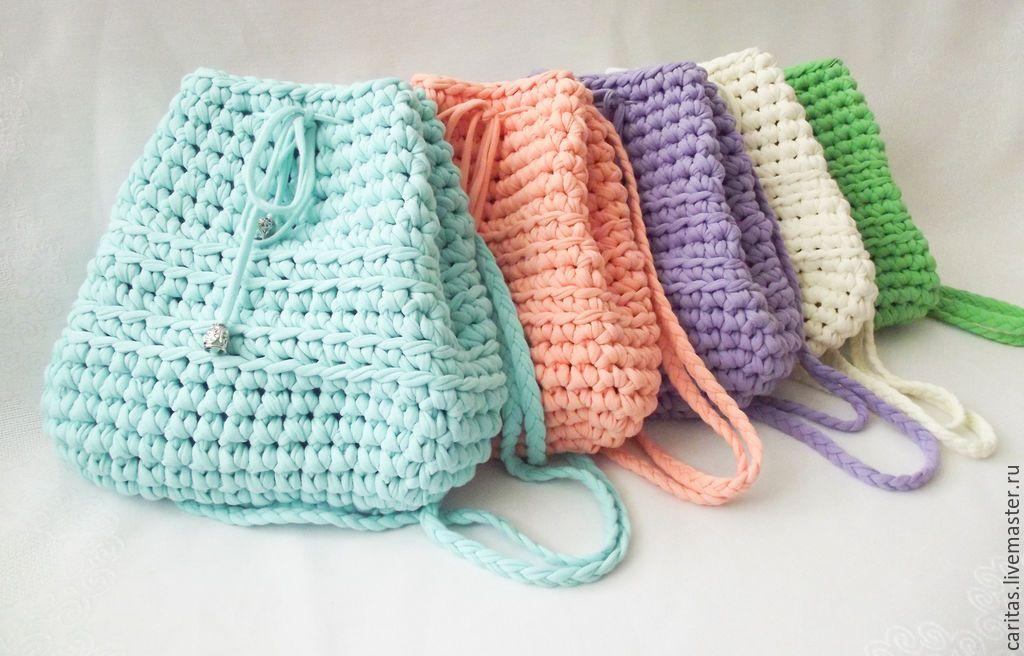 Рюкзак женский крючком рюкзаки молодежные для девушек кожаные купить