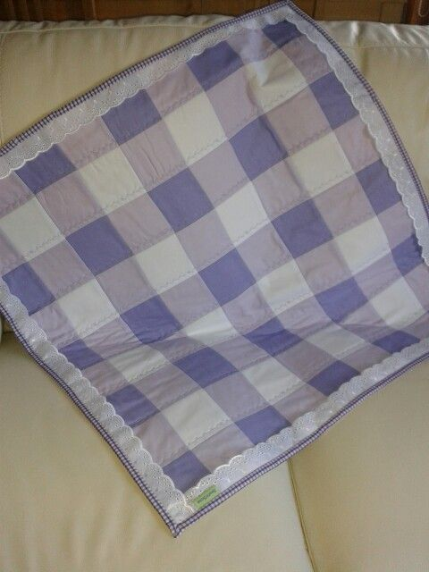 Gingham effect baby quilt