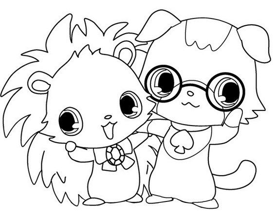 Labra jewelpet coloring picture   Jewelpets Coloring Sheets   Pinterest