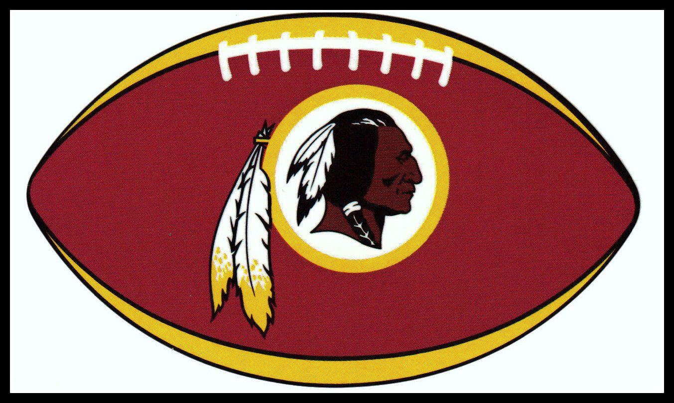Details about washington redskins oval football nfl decal