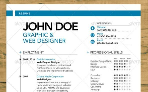 resume tips for design fields