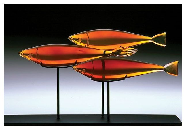 'Three Honies' (hot-sculpted glass) 2003 by Nick Wirdnam.