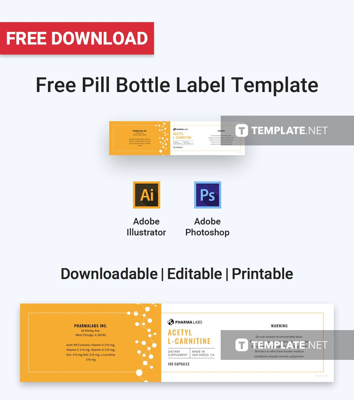 Free Medical Pill Bottle Label