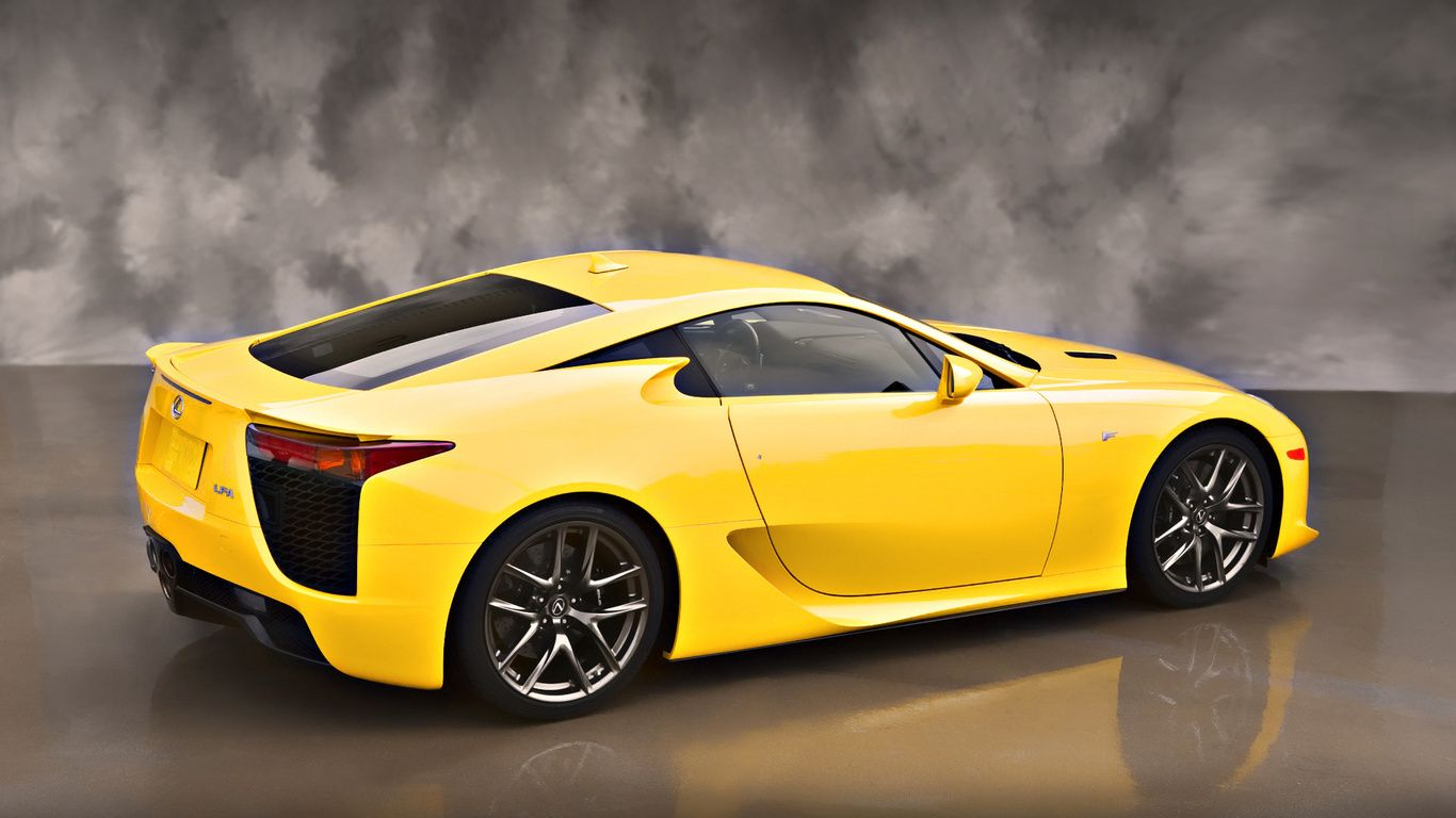 Lexus Sport Car Yellow