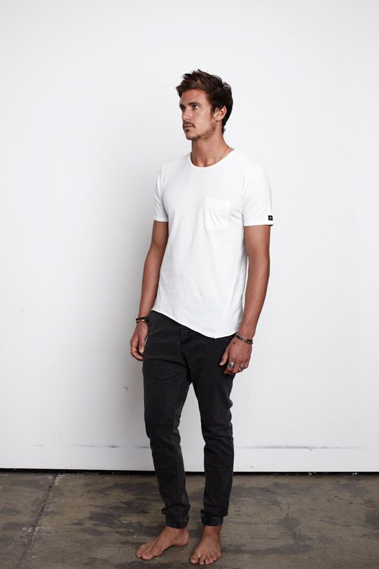 8113db2106 Simple look fashion men tumblr Style streetstyle white t pants ...