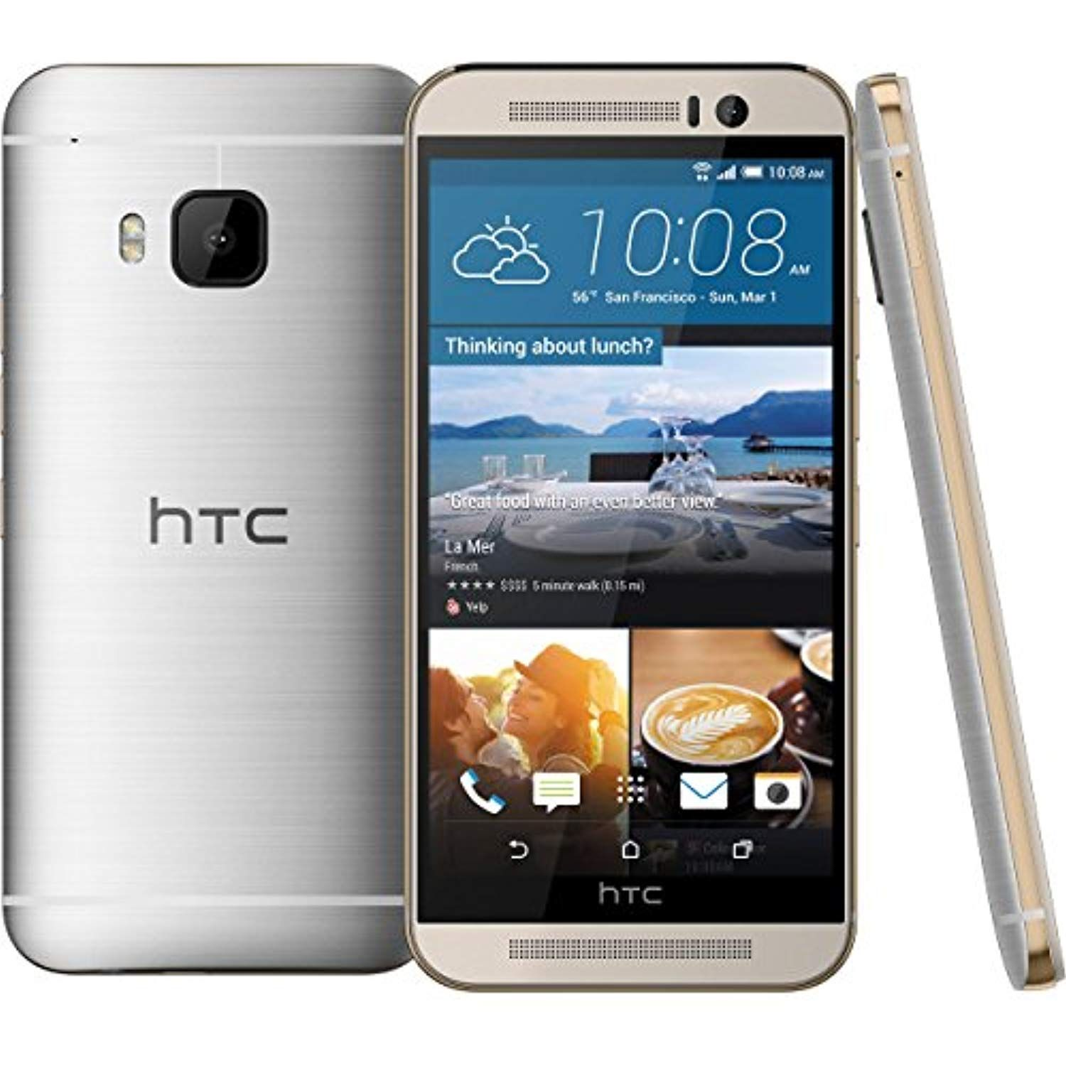 HTC one M8 32GB Gold/Silver Verizon Wireless (Certified