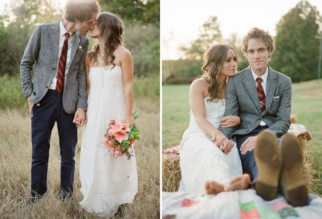A Whimsical Wooded Backyard Wedding On Green Shoes