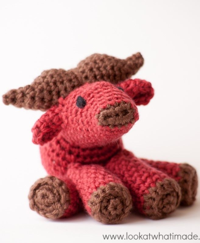 Walter the Crochet Water Buffalo {A Little Zoo Animal}
