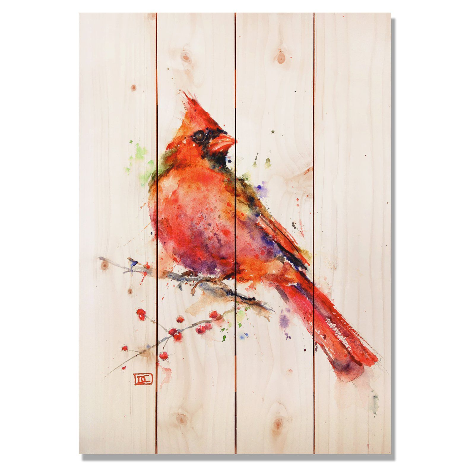 Daydream sig series red cardinal indooroutdoor wall art dc