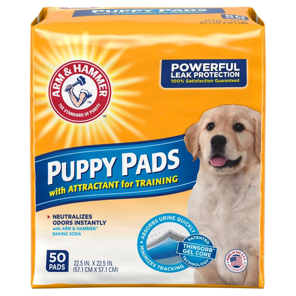 Arm Hammer Absorbent Dog Pads And Puppy Training Pads 50ct