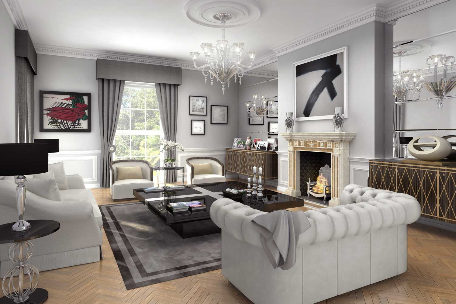 Interior artists impression of a reception room in Regents Park   Living  room   Pinterest   Reception rooms, Living rooms and Room