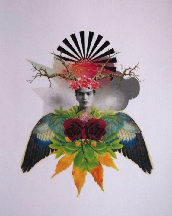Mi Frida 8.5 x 11 Inch Print by AndAubreyWas on Etsy, $12.00