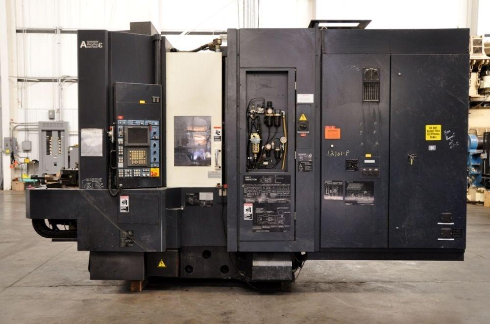 2002 MAKINO A55E CNC HORIZONTAL MACHINING CENTER - 52 TOOL HOLDERS & TOUCH PROBE