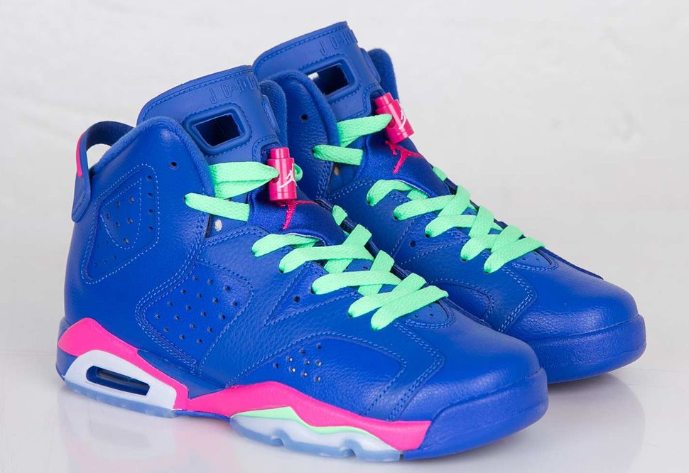 "low priced 9ea7a 84d3b Air Jordan 6 Retro GS ""Game Royal   Vivid Pink"""