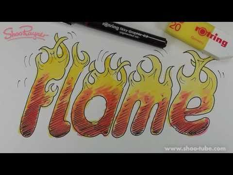 How To Draw Letters Of Fire Youtube Hand Lettering Typography