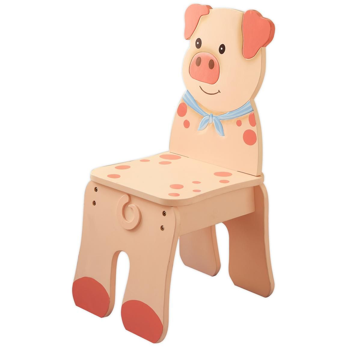 Kid S Wooden Pig Chair From The Teamson Happy Farm Room