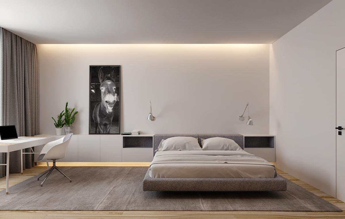 Soft Minimal Single Bedroom Luxury Bedroom Furniture Bedroom Interior