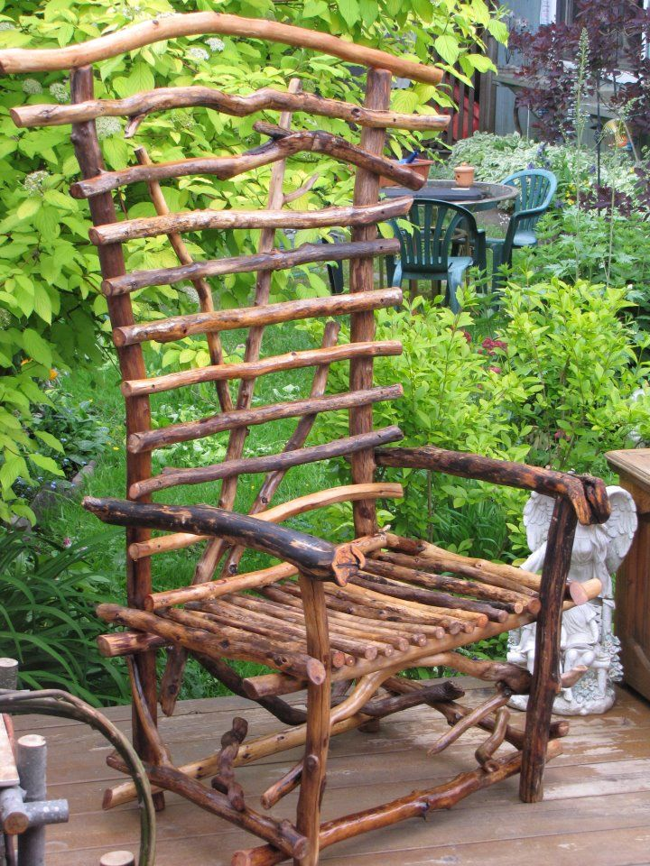 Driftwood Chair Protected With Oil Cedar Garden Whimsie