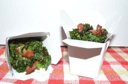 Bacon Kale Chips by Ethan, tastesbetterwithfriends #Kale #Bacon #Kale_Chips #tastesbetterwithfriends