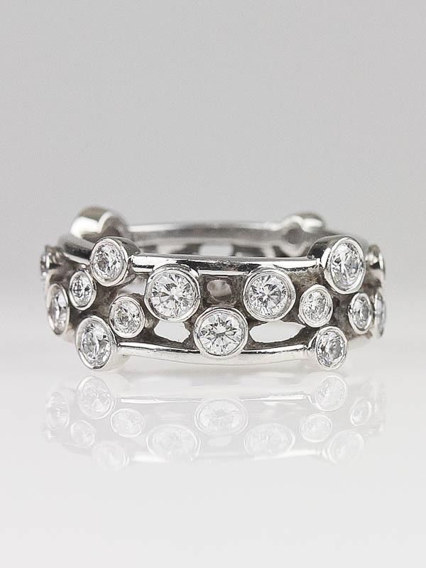 58925ee56 Tiffany & Co. Platinum and Diamond Bubble Ring Size 5.5 | Jewelry ...