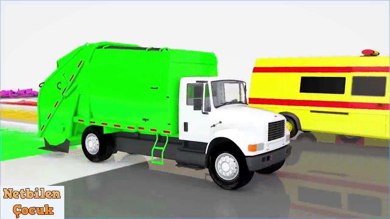 Polis Itfaiye Ambulans Arabasi Ile Renkleri Ogreniyoruz Egitici Cizgi Ambulans Polis Kamyon