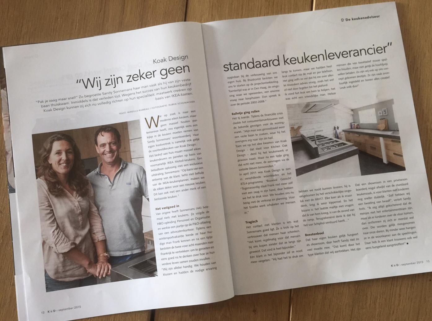 Vind Beste Keukenbedrijven : Artikel in keuken & design september 2015 koakmedia pinterest