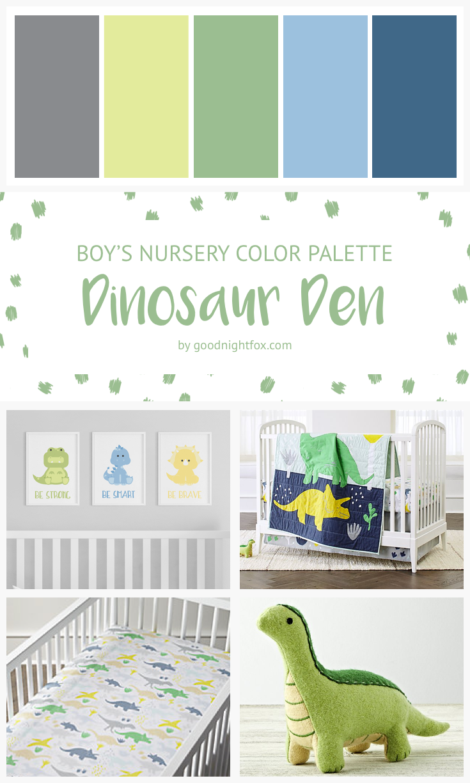 Boy Dinosaur Nursery | Baby Boy's Room | Dinosaur Nursery | Dinosaur Bedroom | Personalized Art Prints #dinosaurnursery