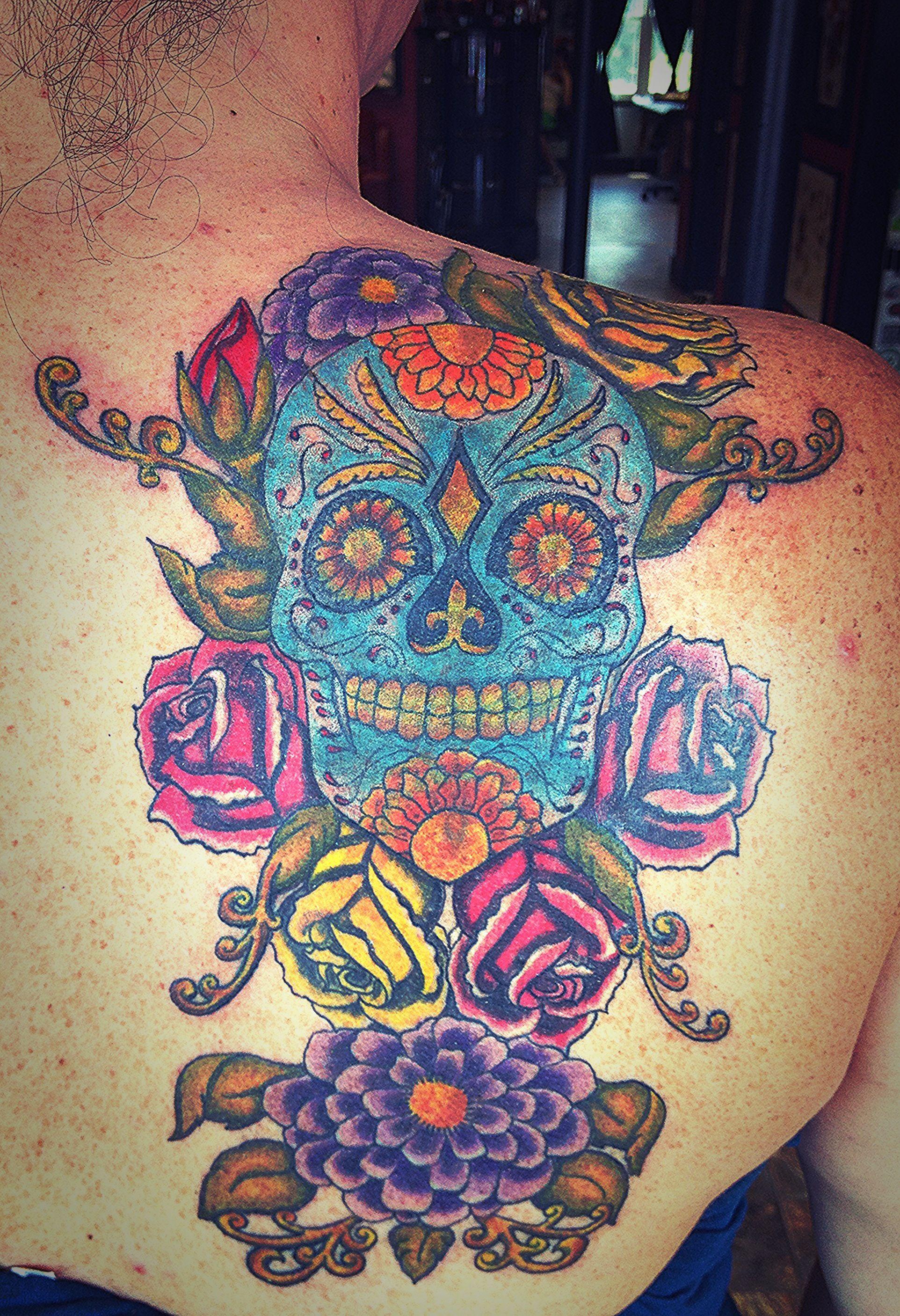 My Sugar Skull Coverup Skull Skull Tattoo Tattoos