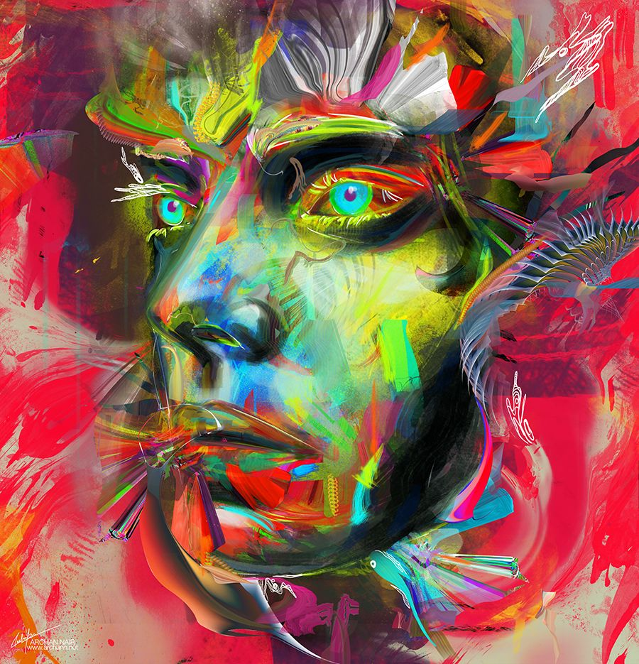Color art digital - Orca Series Digital Artworks Illustrations Color Archan Nair Painting Art