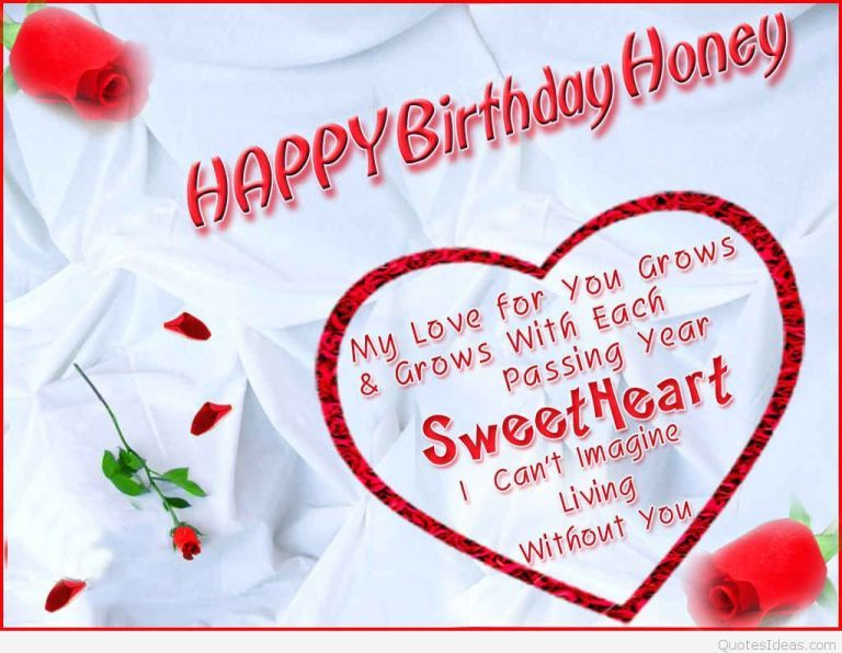 Happy Birthday Wishes For Wife With Images Happy Birthday Honey