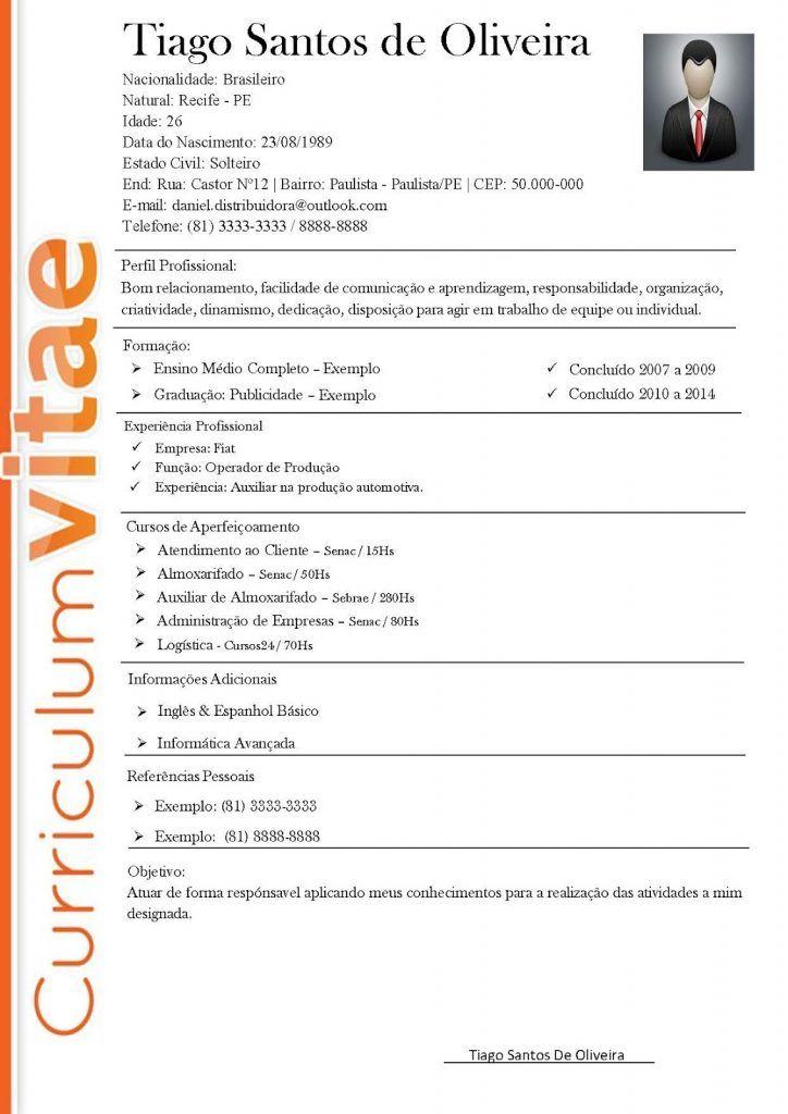 Download Modelos CV Gratuitos – Como fazer um curriculo | Modelo ...