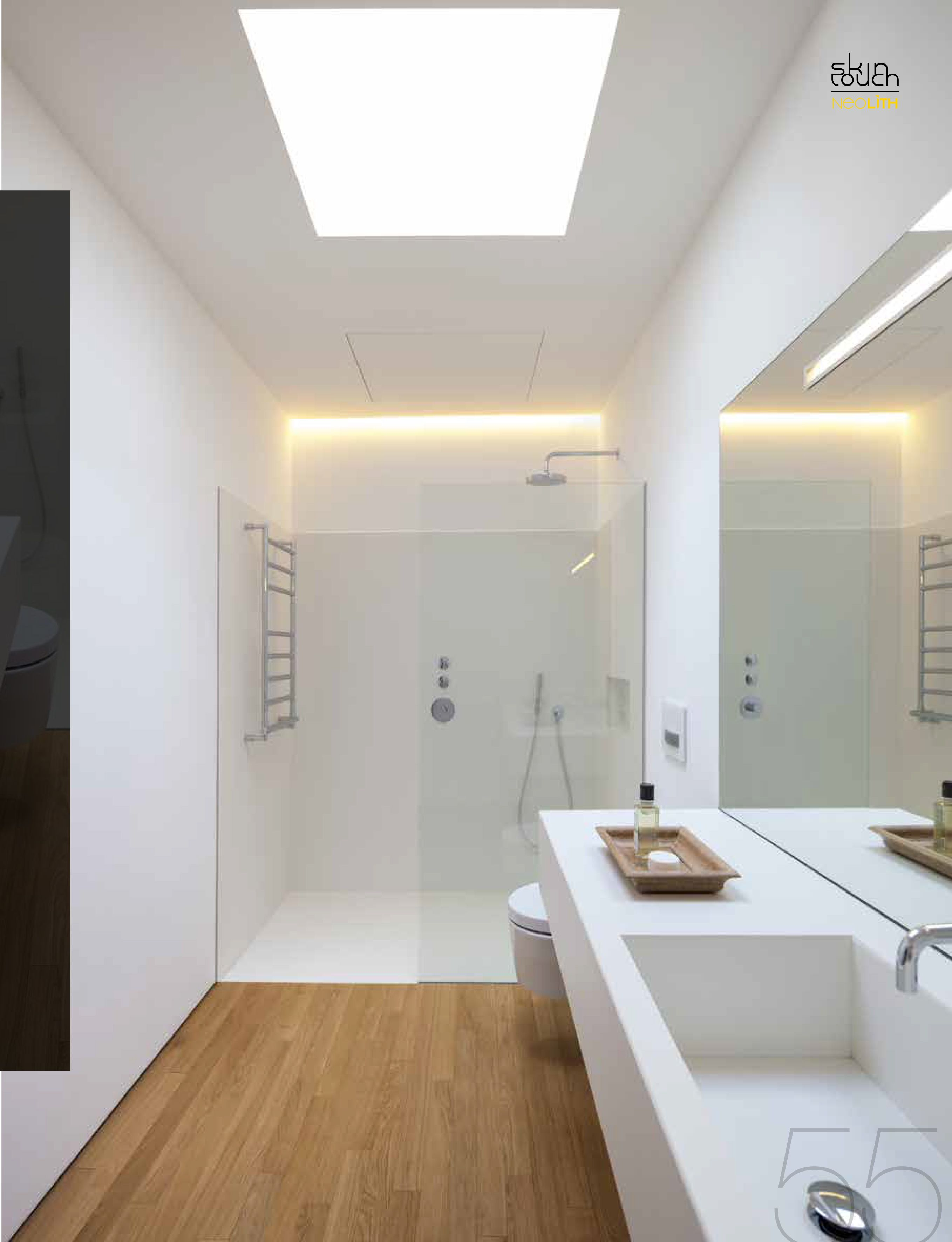 neolith arctic white wall floors sink and countertop kitchen