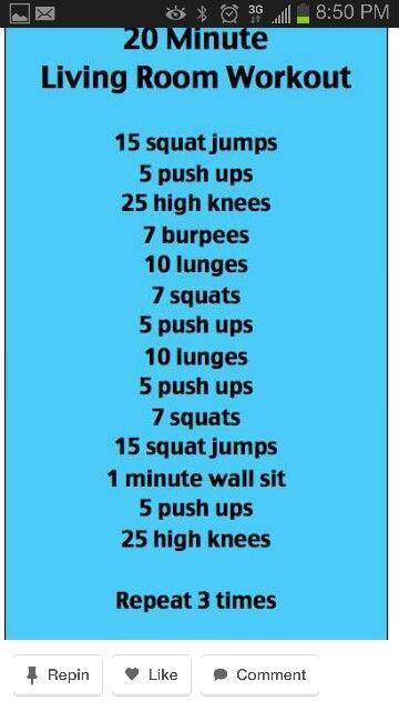 Living room workout! A   Fitness   Pinterest   Living room workout ...