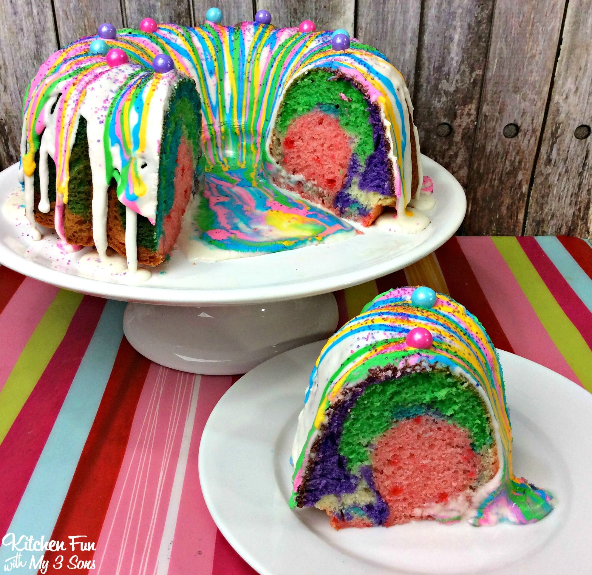 This Unicorn Poop Bundt Cake is so fun and easy to make. This is also