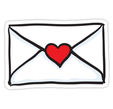 Love Letter Sticker Sticker Letter Stickers Love Letters
