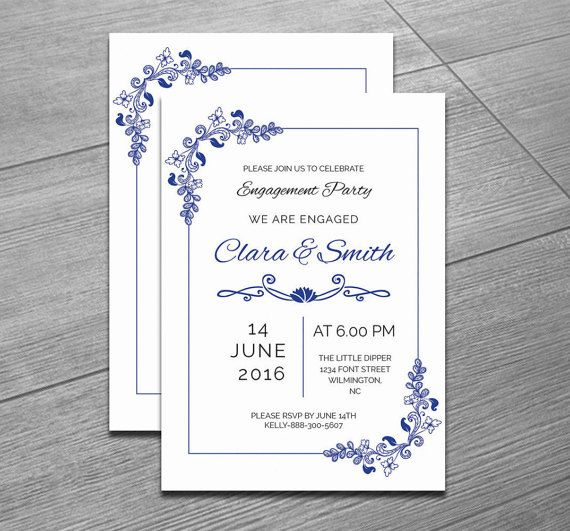 Editable Engagement Invitation Template By Weddingtemplatestock